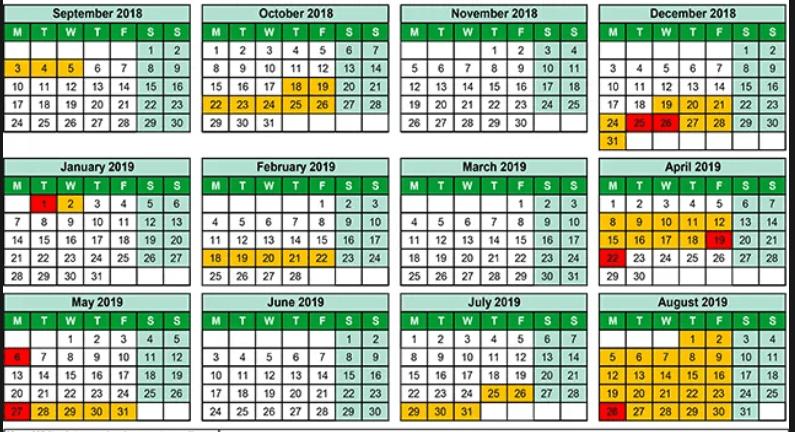 Free Printable School Holidays 2019 Calendar Malaysia Templates