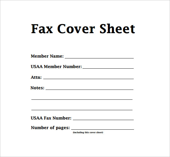 Sample Fax Cover Sheets