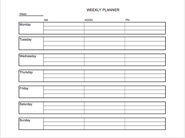 Personal Planner Templates