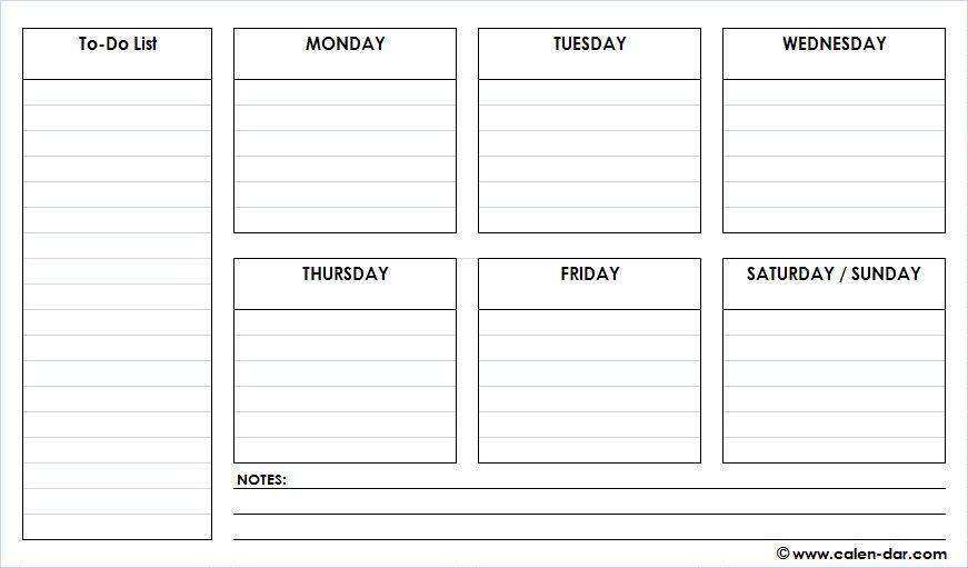 Weekly Planner Template PDF