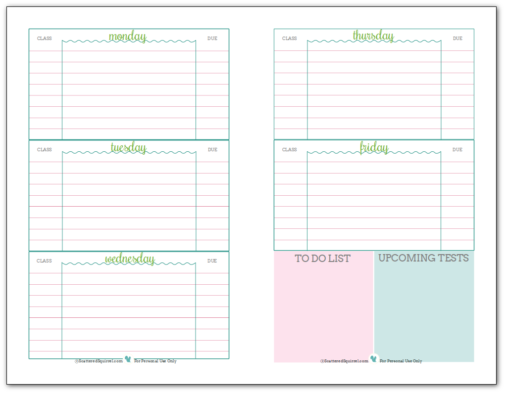 image relating to Printable Student Planner Download named Educational Planner Template Calendar Printable Towards Observe Anything