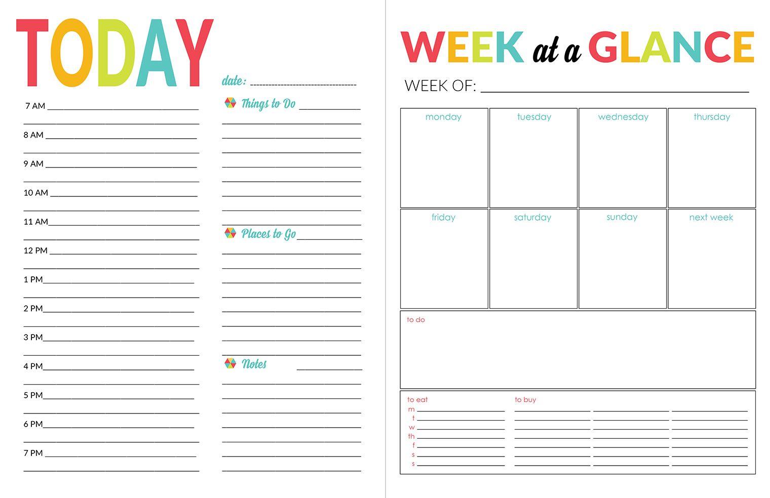School Year Organizer & Planner Printable