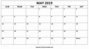 printable editable calendar may 2019