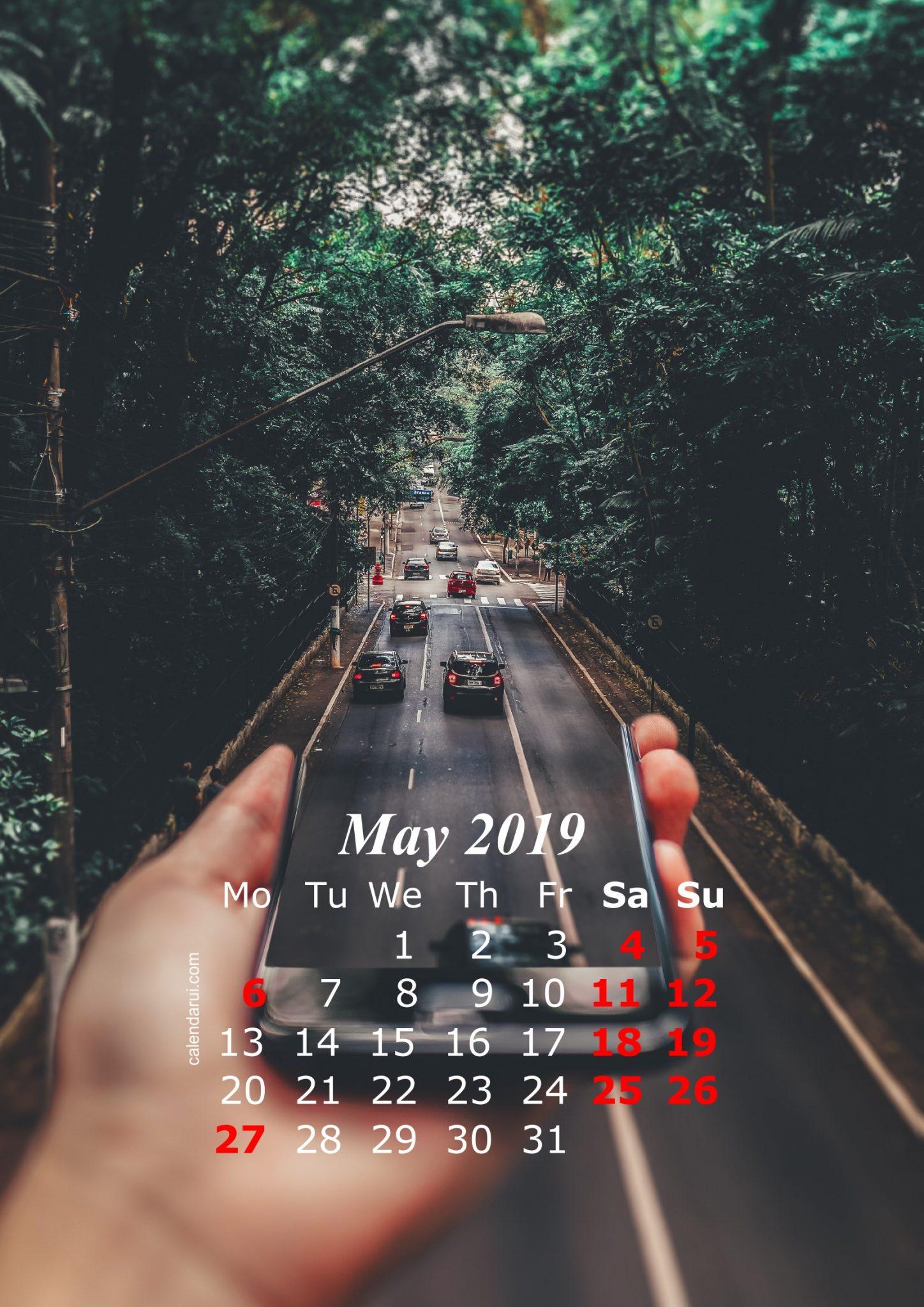 May 2019 Calendar Iphone Wallpaper