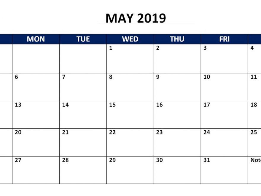 May 2019 Calendar PDF