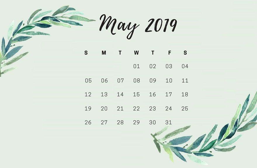 May 2019 Calendar Wallpaper