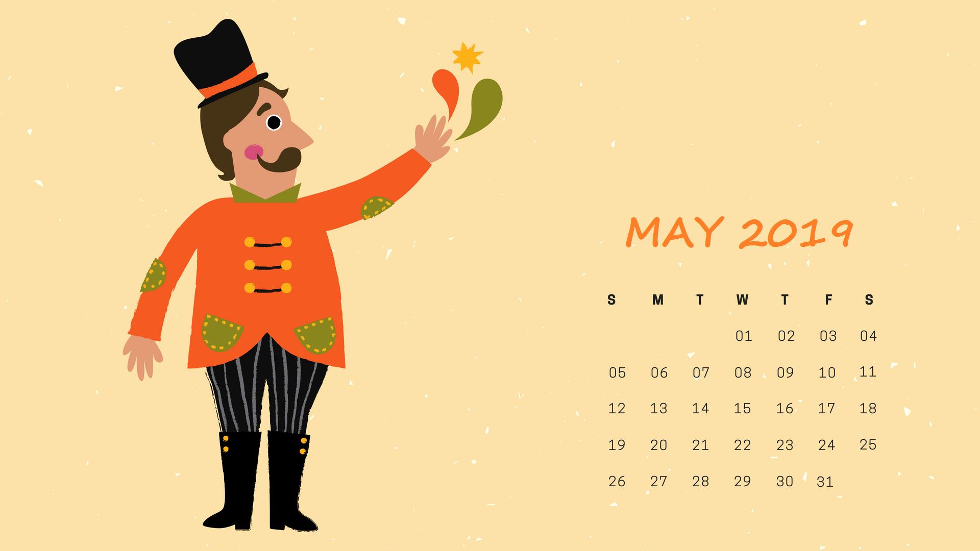 May 2019 Calendar Wallpaper HD