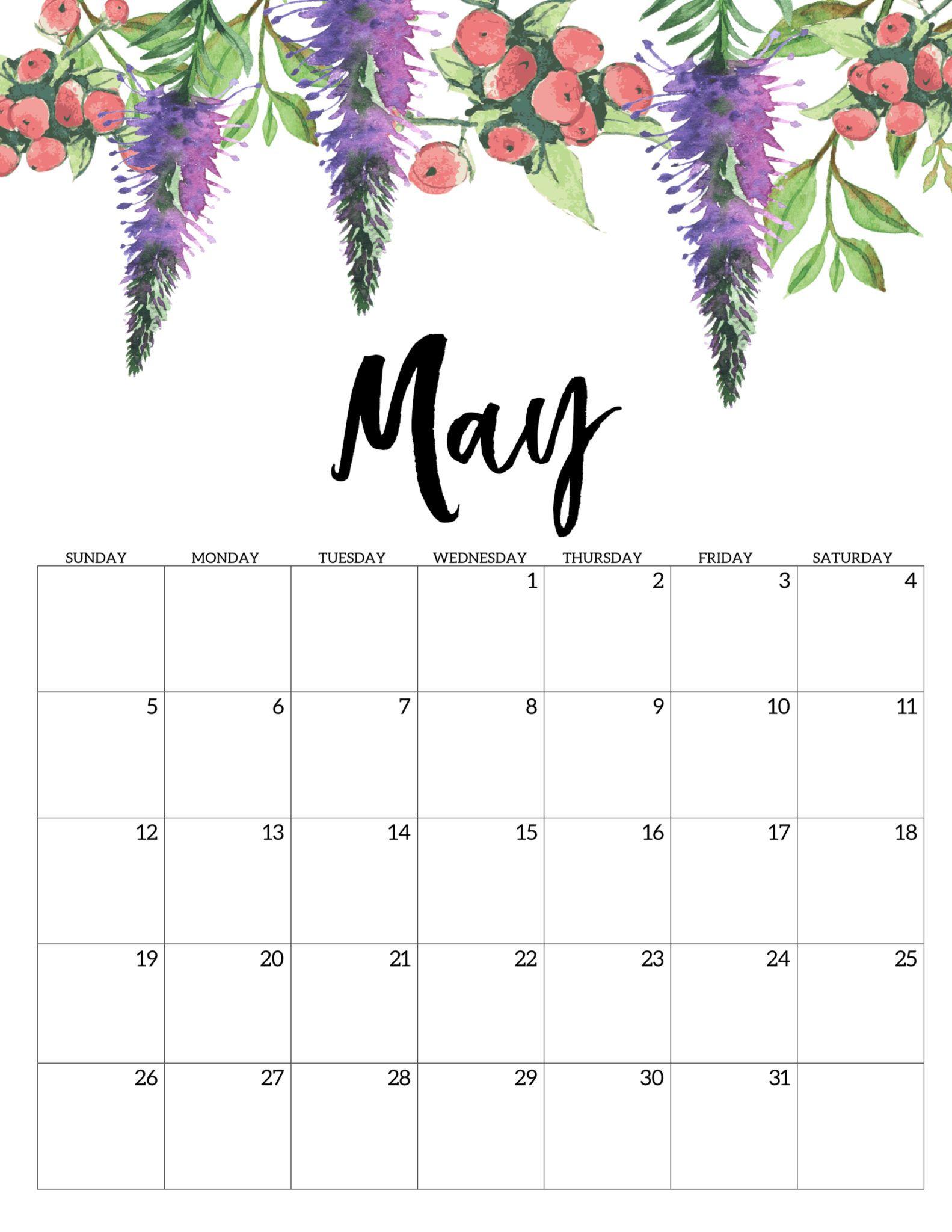 May 2019 Floral Calendar