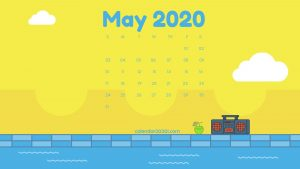 May 2020 Calendar Desktop Wallpaper
