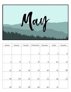 Personalized May 2019 Calendar