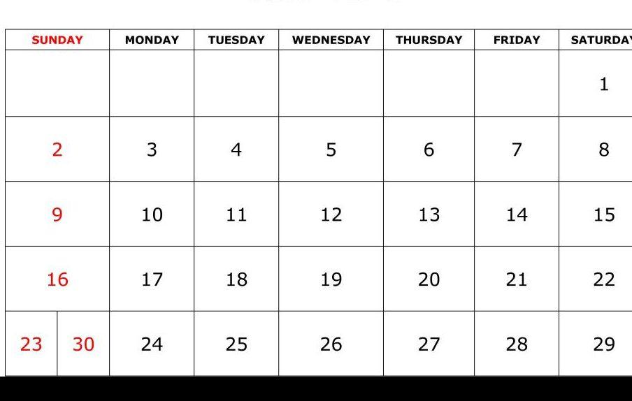 Printable June Calendar 2019 Template