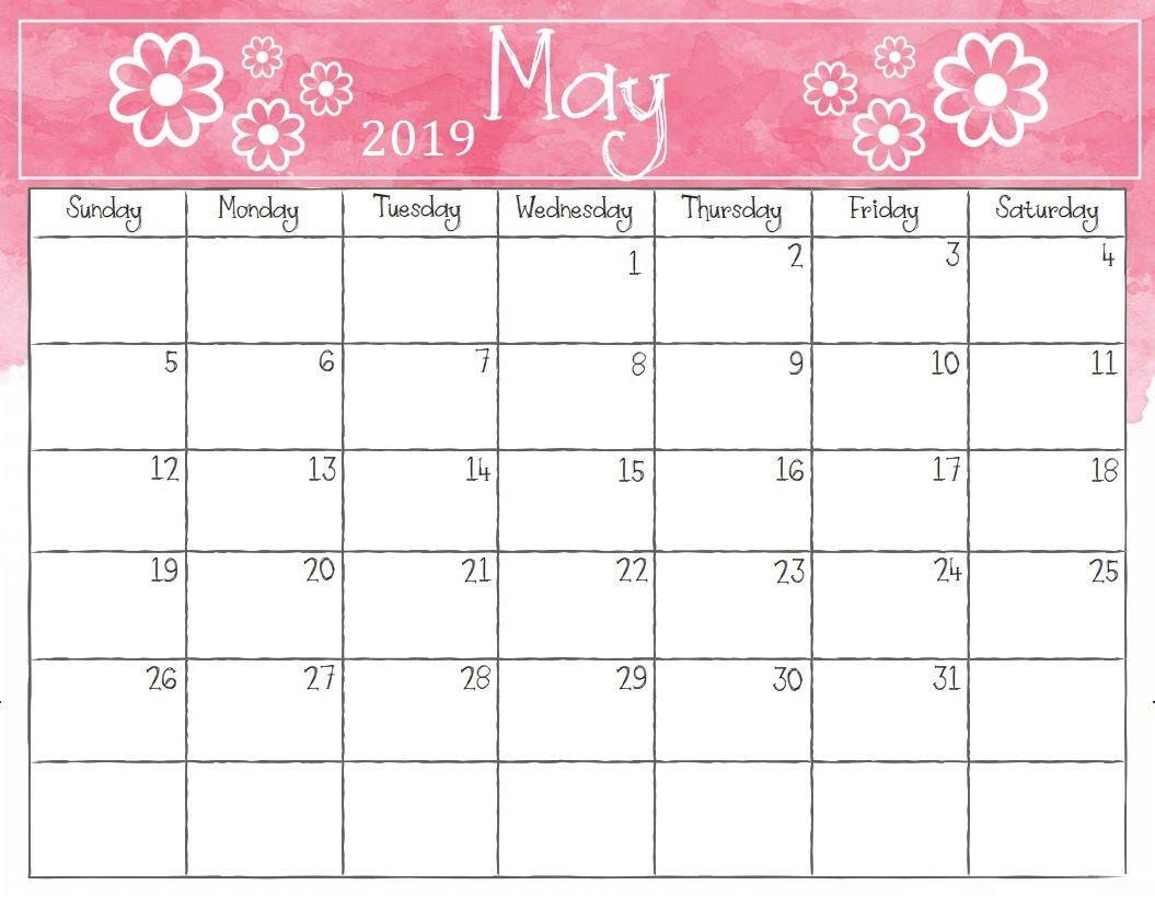 Waterproof May 2019 Desk Calendar