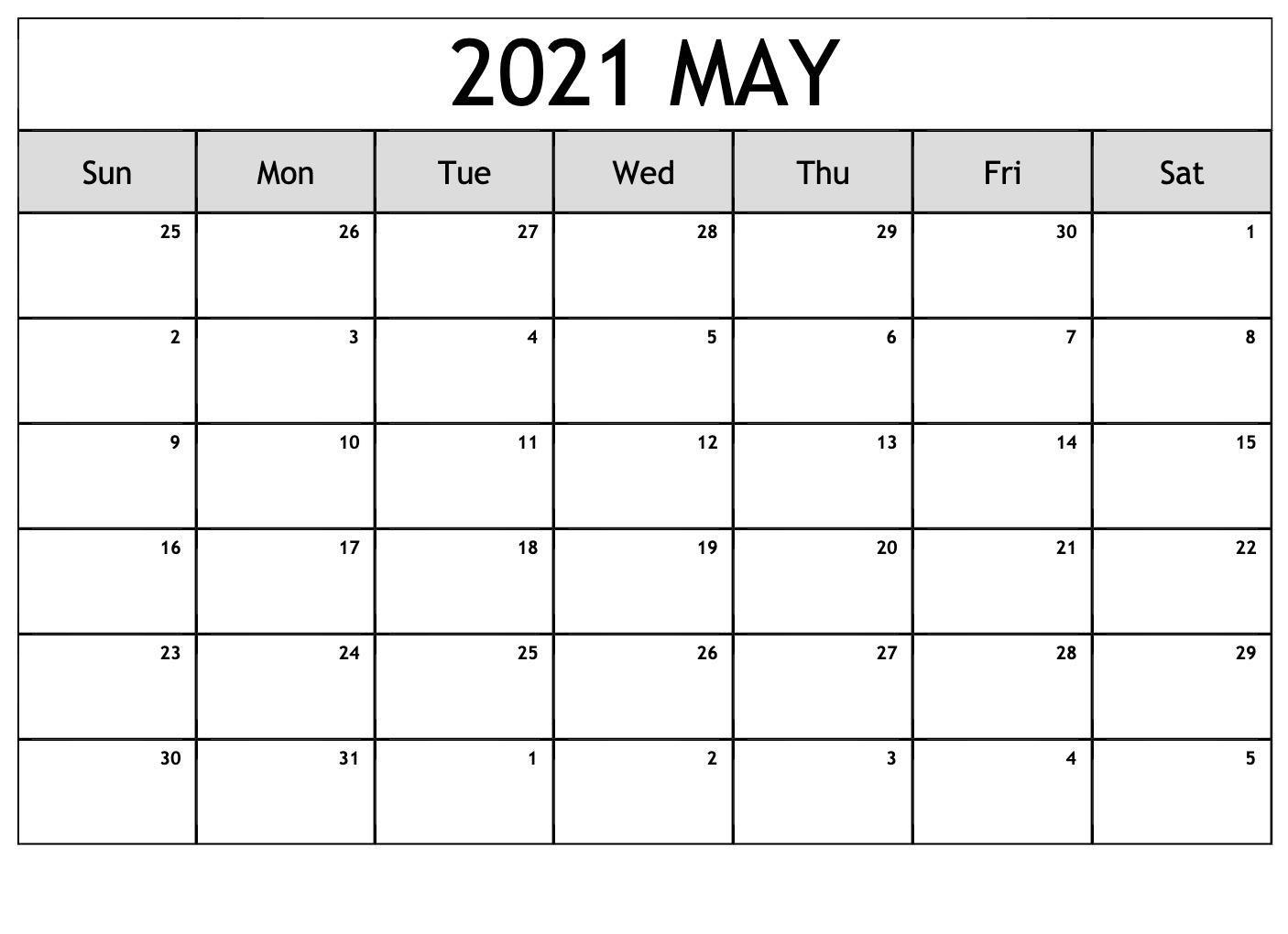 may calendar 2021 editable