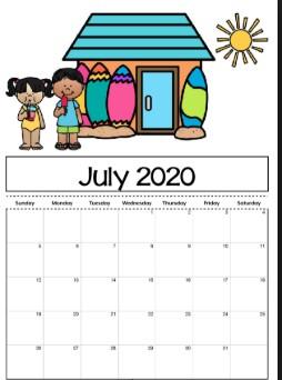 June 2020 Cute Calendar