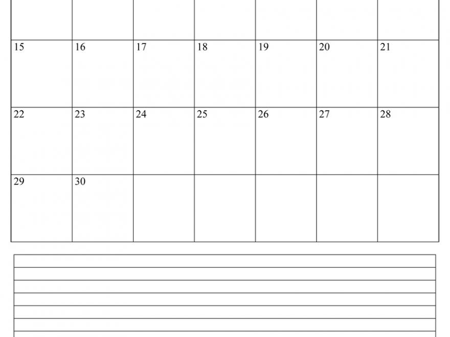 June Calendar 2020 Fillable Template