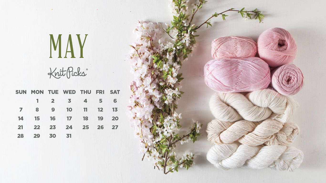 May 2021 Calendar Floral Backgrounds