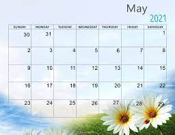 May 2021 Desktop Calendar Wallpaper