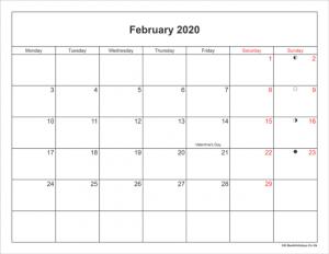 February Holidays 2020 UK