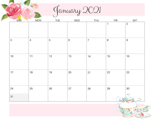 January 2021 Calendar Template for Office & Home
