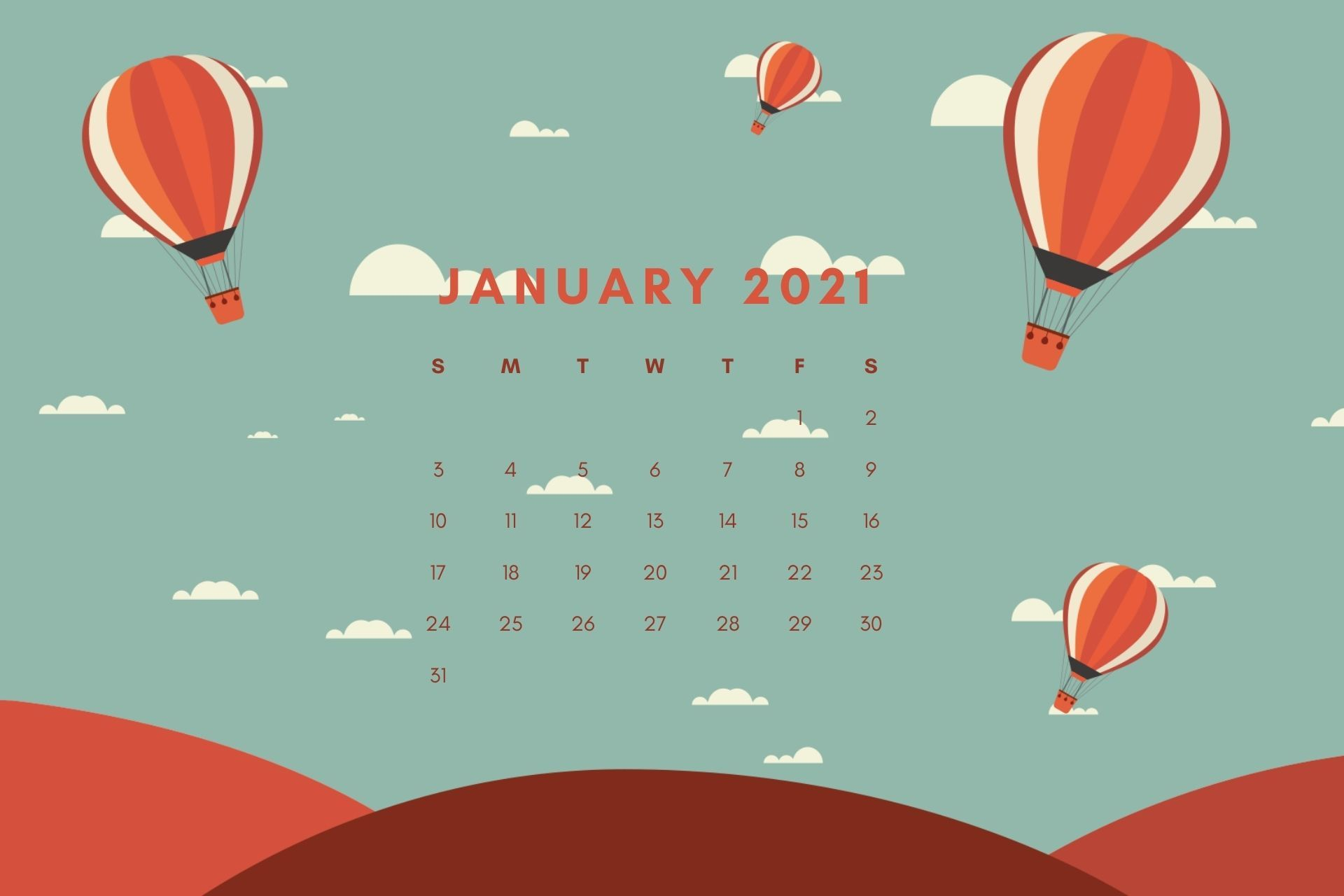january 2021 Wallpaper Calendar
