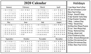 march holidays 2020 singapore