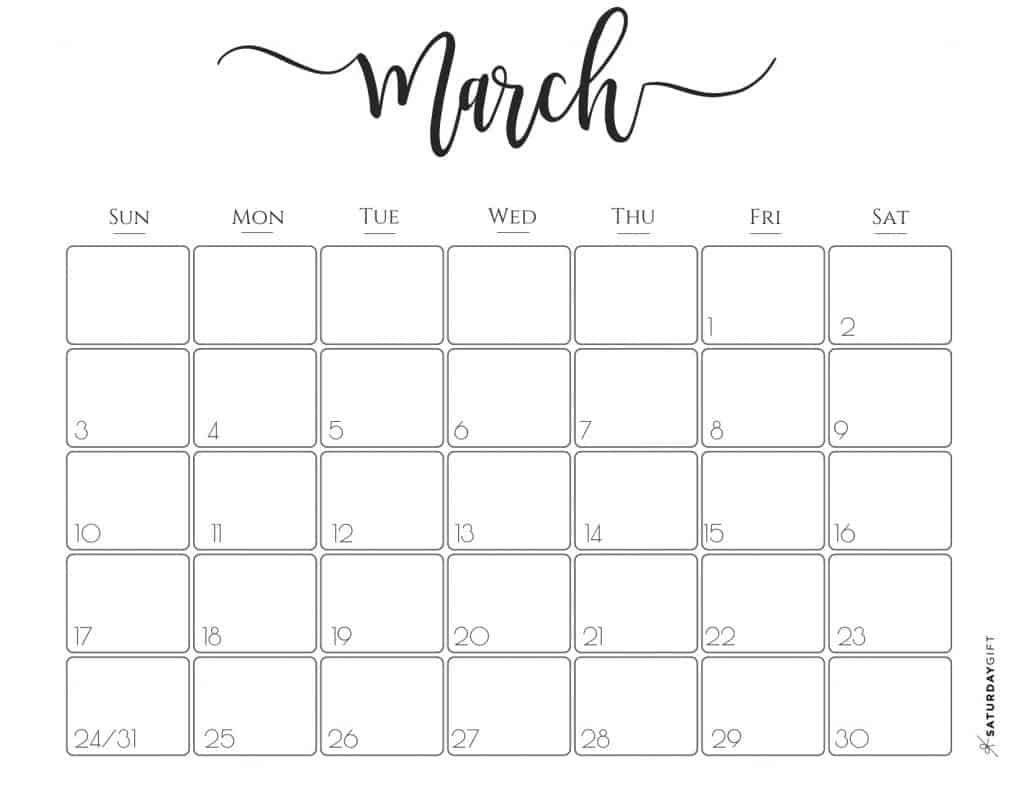 March 2020 Desk Calendar Template