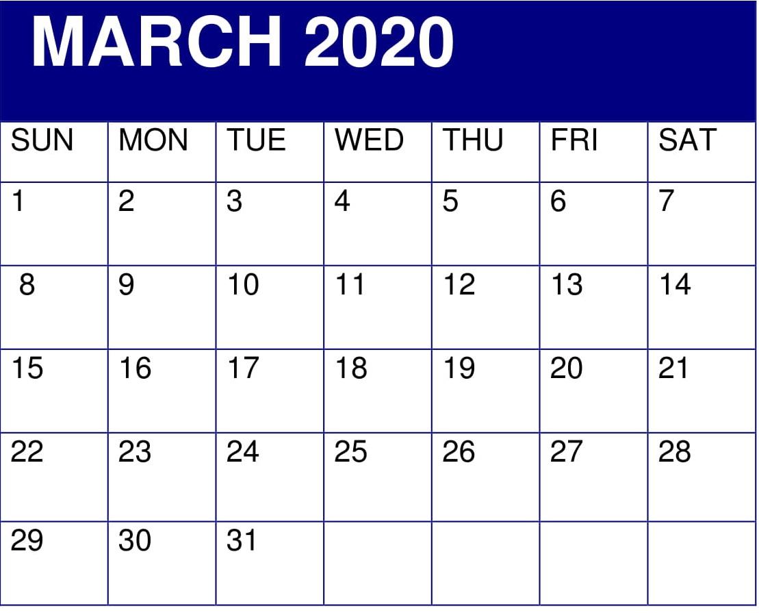 March 2020 Desk Template