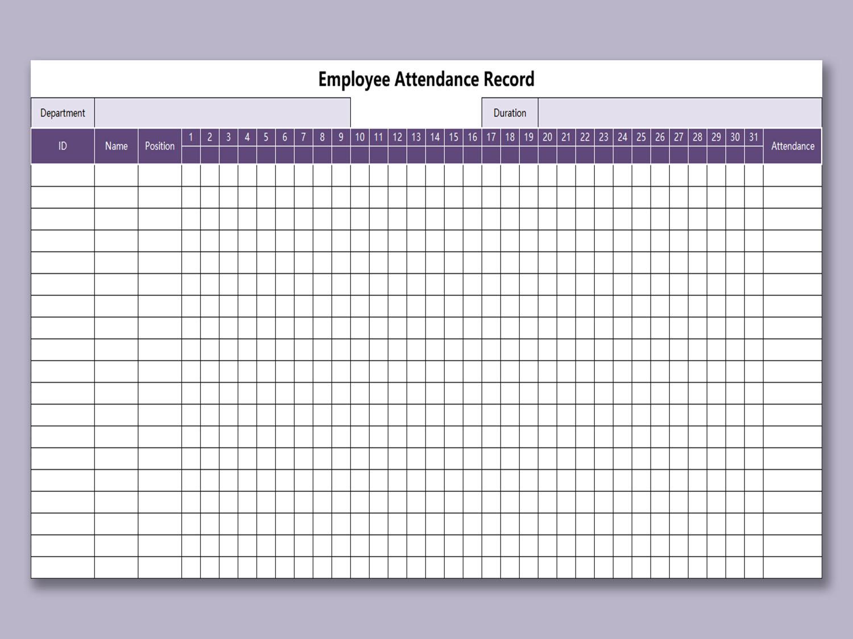 attendance sheet template microsoft word