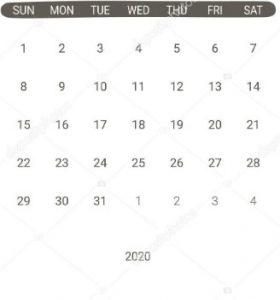 March 2020 Calendar Simple format