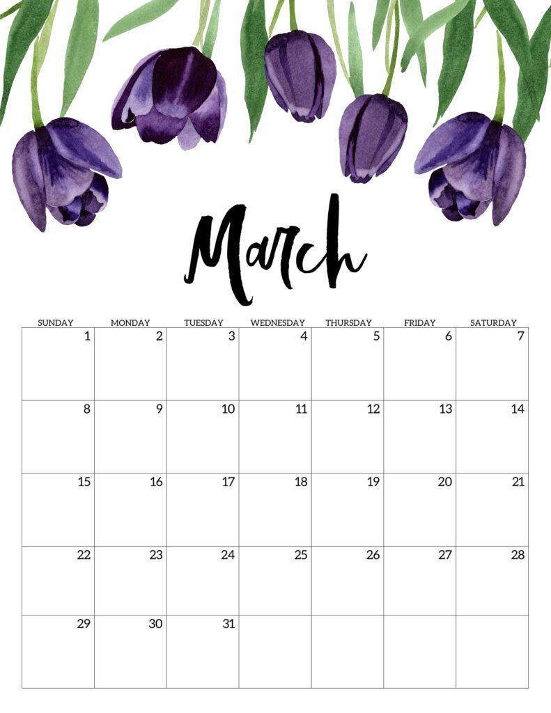 March 2021 Decorative Calendar
