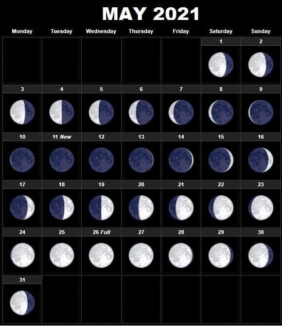 moon calendar may 2021