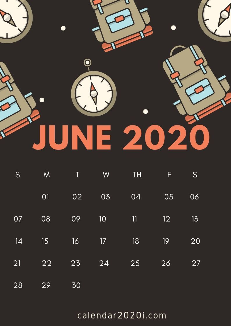June 2020 Decorative Calendar