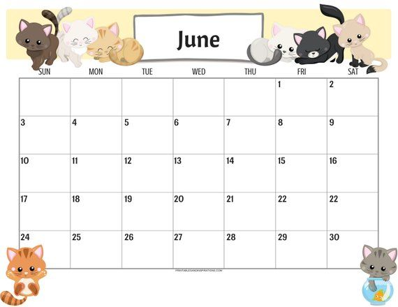 June 2020 Desktop Calendar Wallpaper
