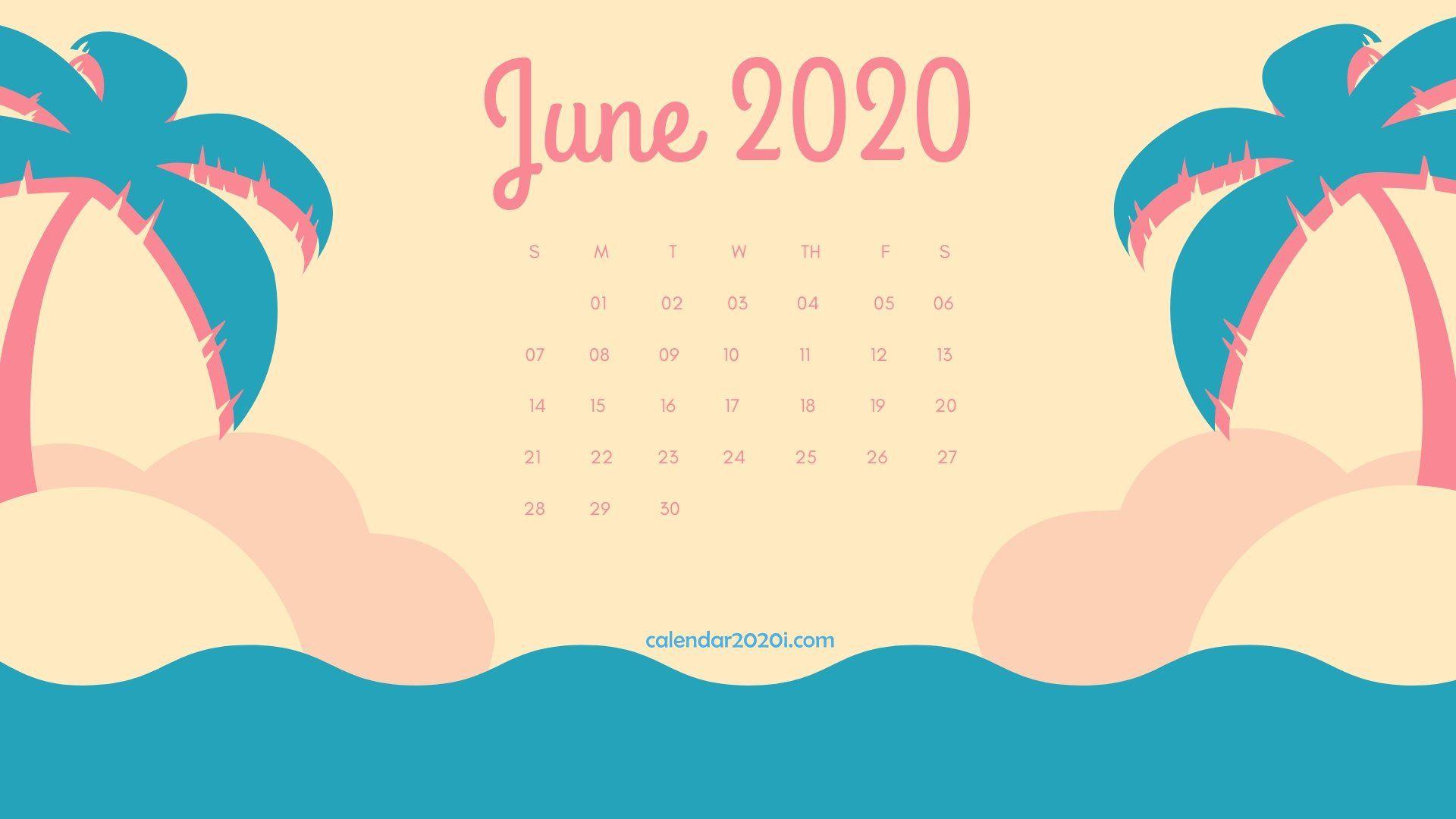 June 2020 Desktop Calendar