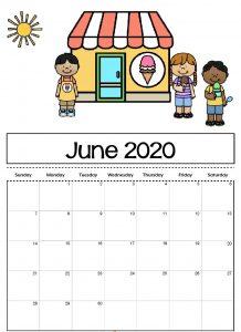 June 2020 Wallpaper Calendar