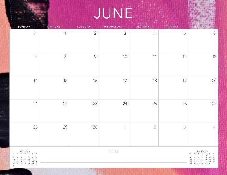 June Calnedar 2020 PDF