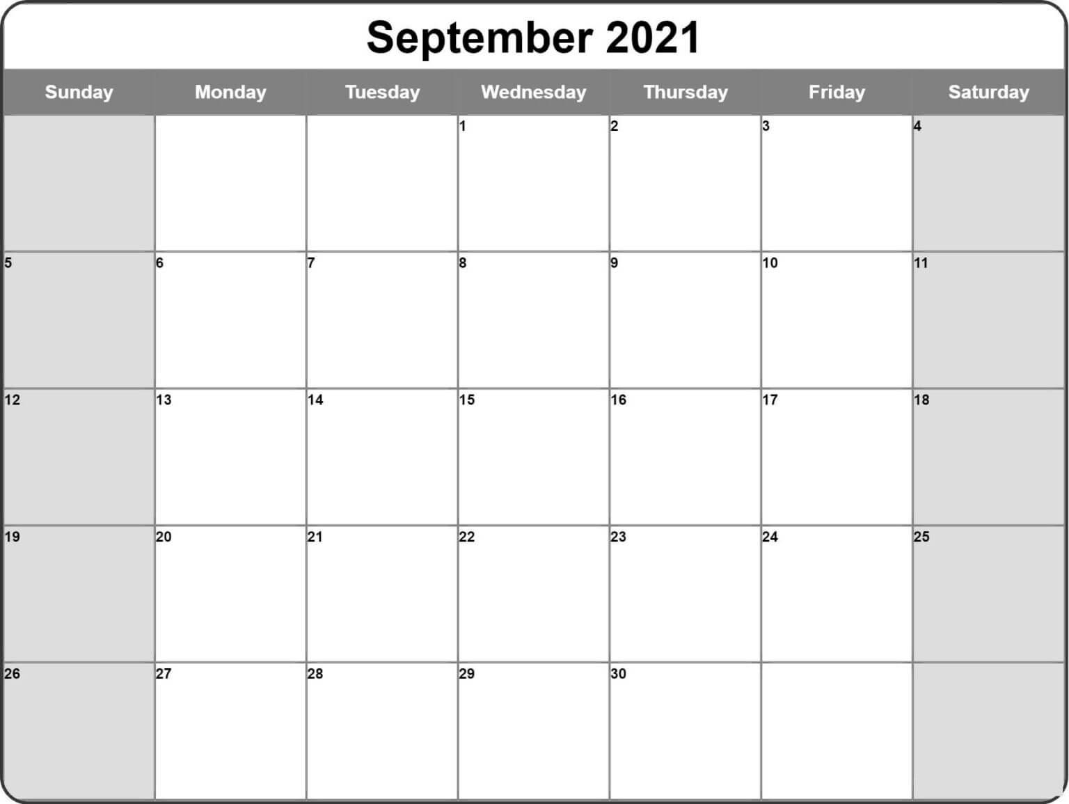 september 2021 calendar pdf word excel