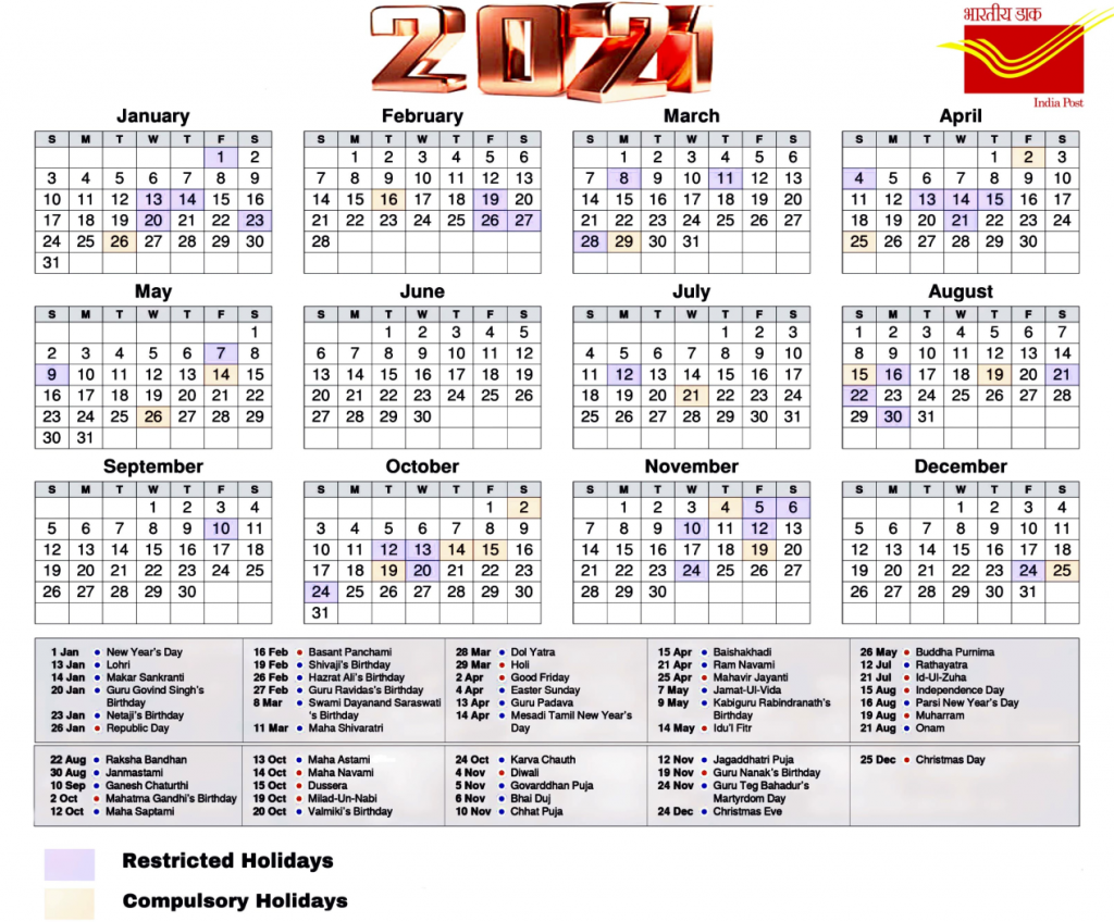 2021 Hindu Calendar Holidays