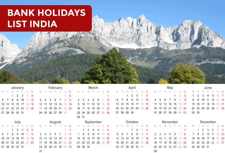 Bank Holidays List 2021 in-India